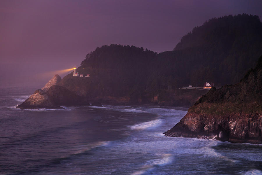 The Light From Heceta Head by James Eddy