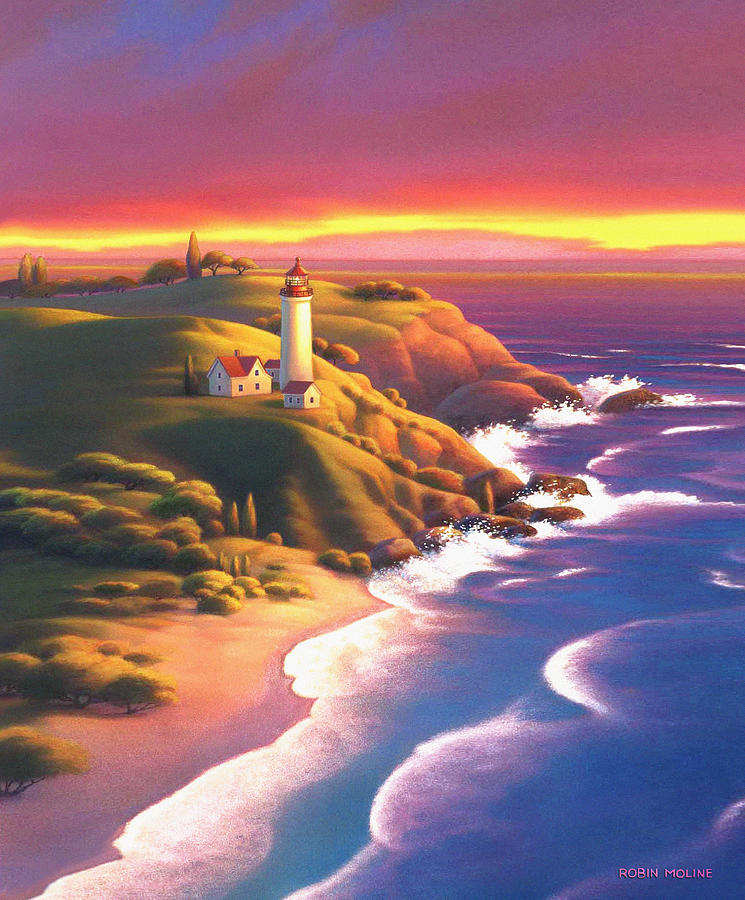 Light House Painting - The Light House  by Robin Moline