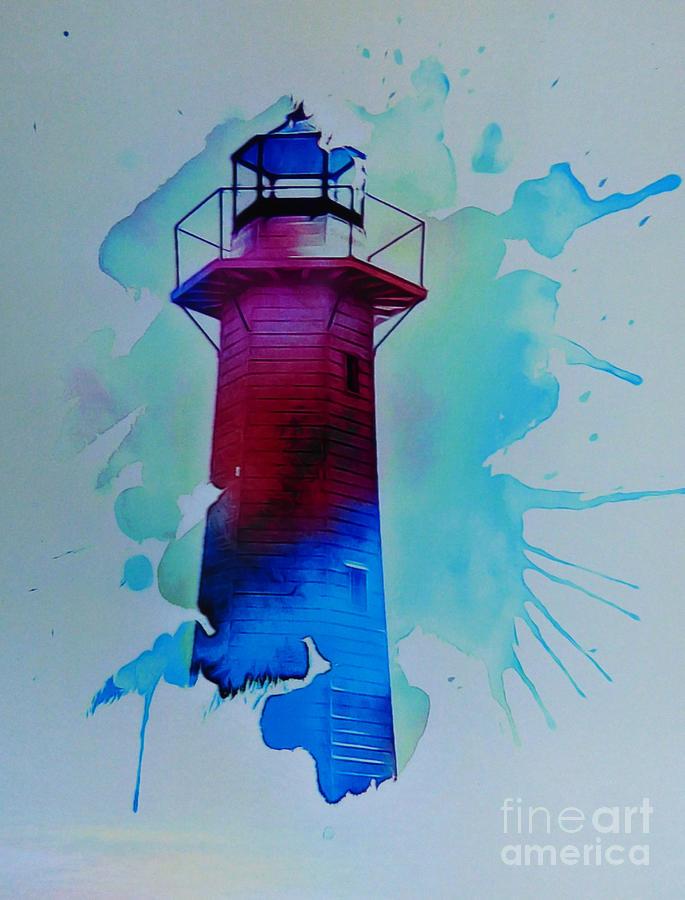 The Lighthouse Digital Art by Trudee Hunter