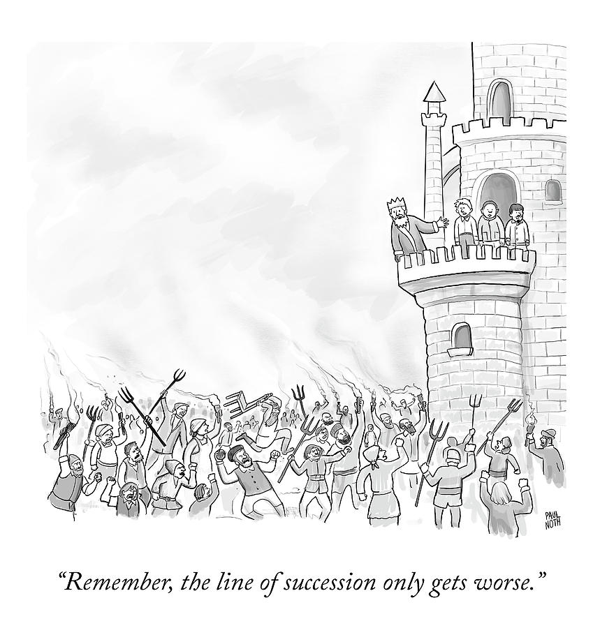 The Line Of Succession Drawing by Paul Noth