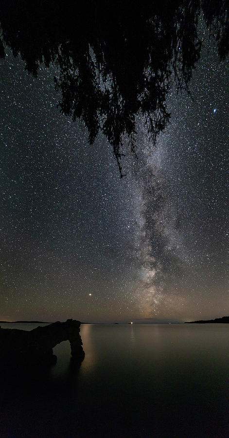 Astrophotography Photograph - The Lion And The Light Of Mars Vertical Panorama by Jakub Sisak