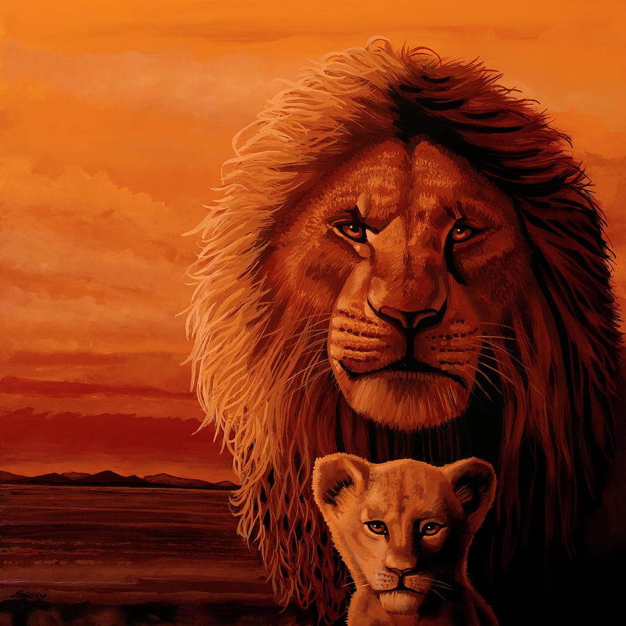 The Lion King Painting by Paul Meijering