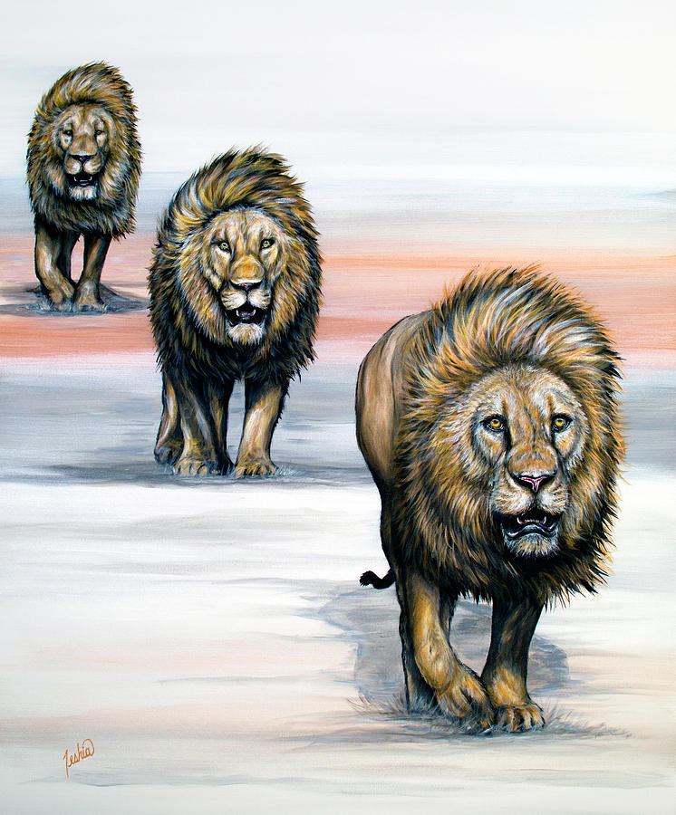 The Lion Line by Teshia Art