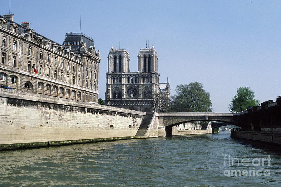 The Little Bridge Paris, France by Pat Hathaway by California Views Archives Mr Pat Hathaway Archives