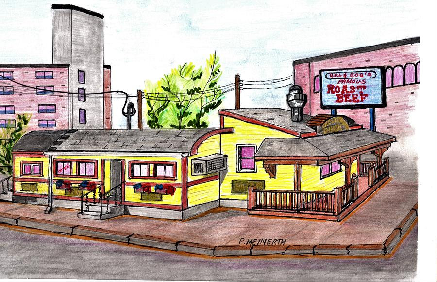 The Little Depot Diner Drawing