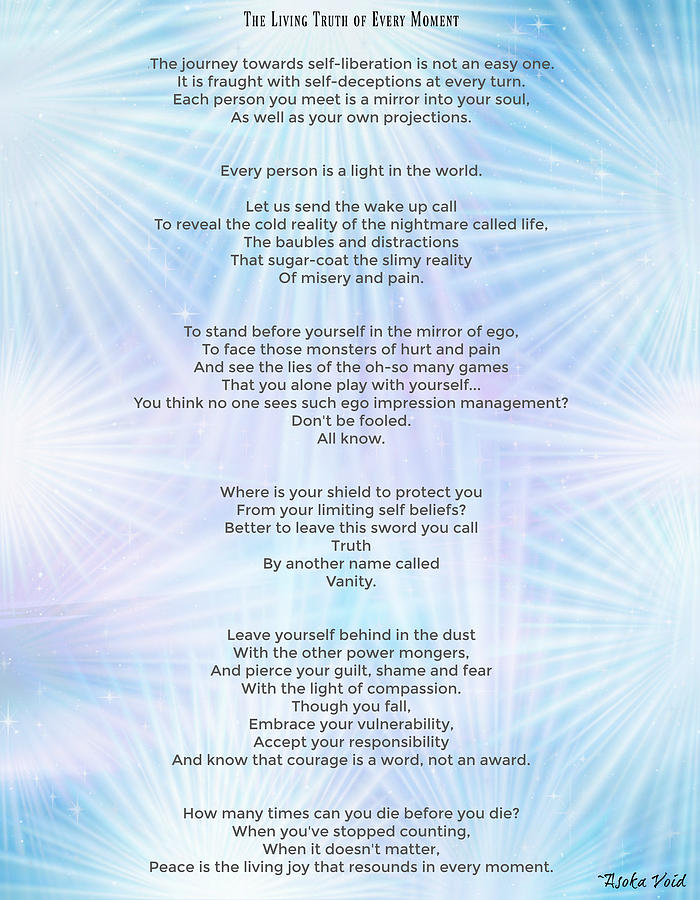 The Living Truth of Every Moment by Catherine Asoka Void