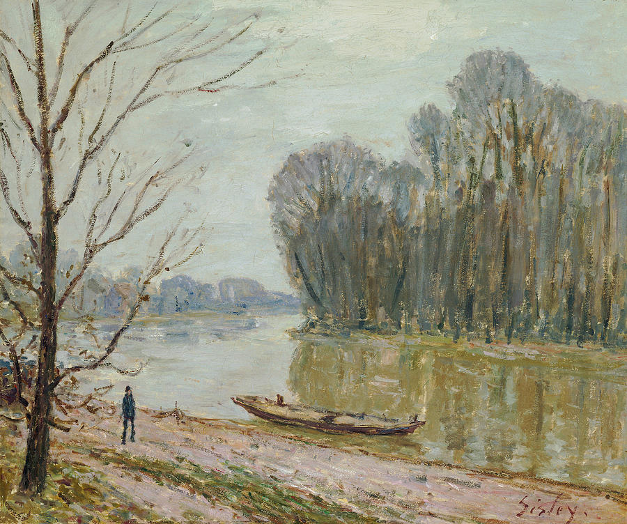 British Painters Painting - The Loire by Alfred Sisley
