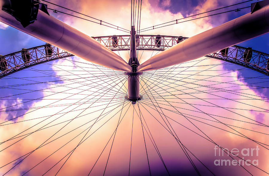 The London Eye and the Cotton Candy Sky by Marina McLain