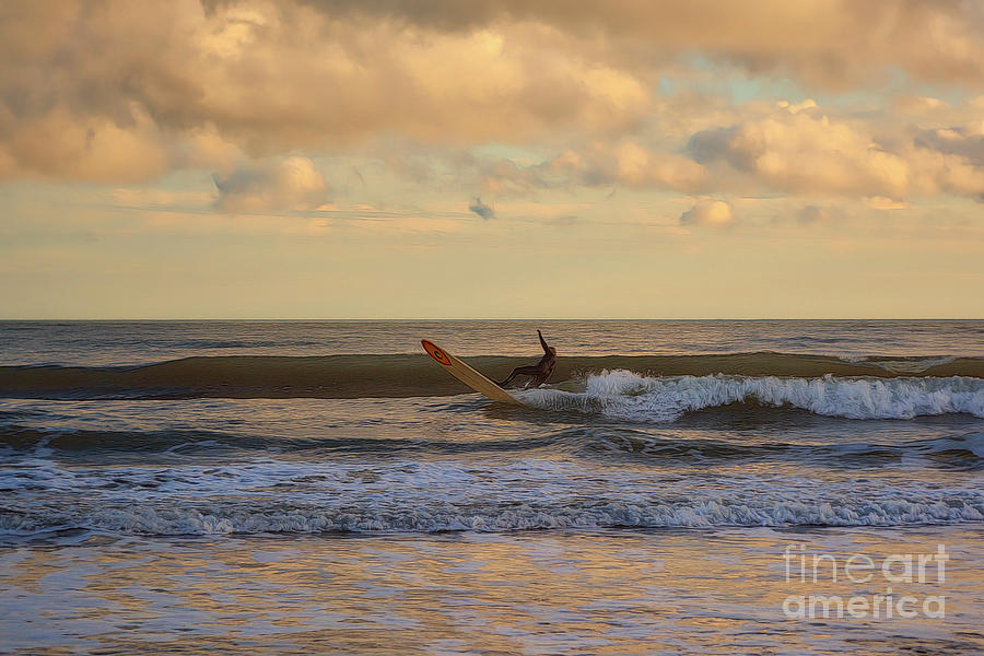 The Lone Surfer by Kathy Baccari
