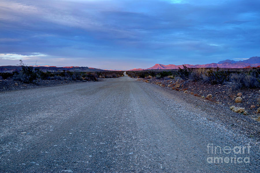 Dirt Photograph - The Long Dirt Road by Joe Sparks