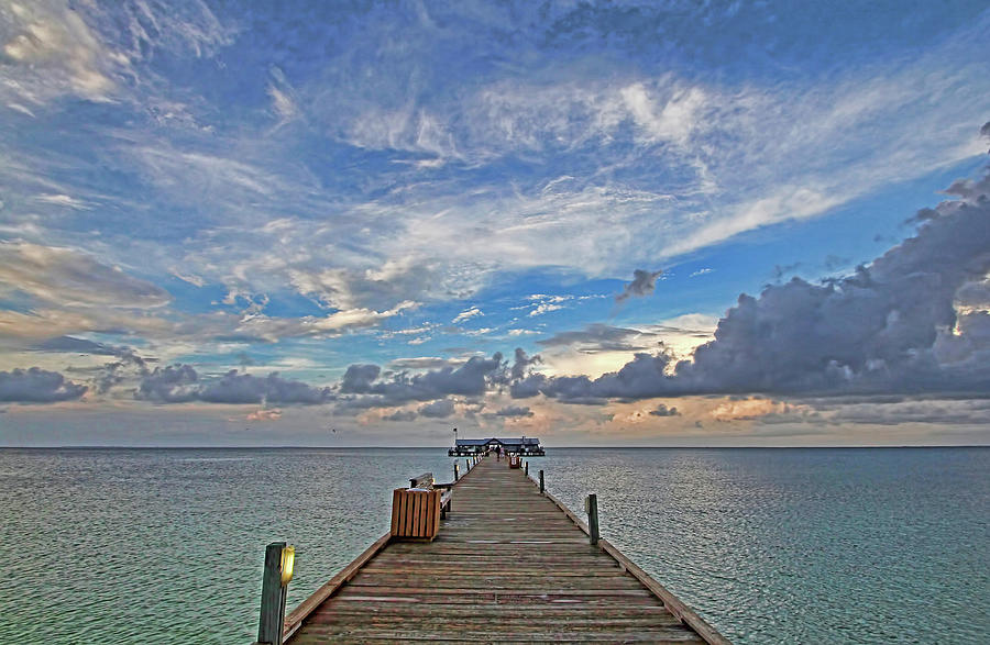Anna Maria City Pier Photograph - The Long Walk by HH Photography of Florida