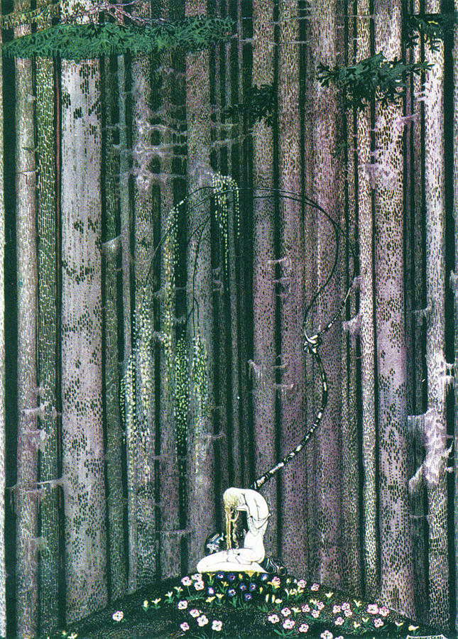 Romance Painting - The Lost Palace And The Crying Daughter by Kay Nielsen
