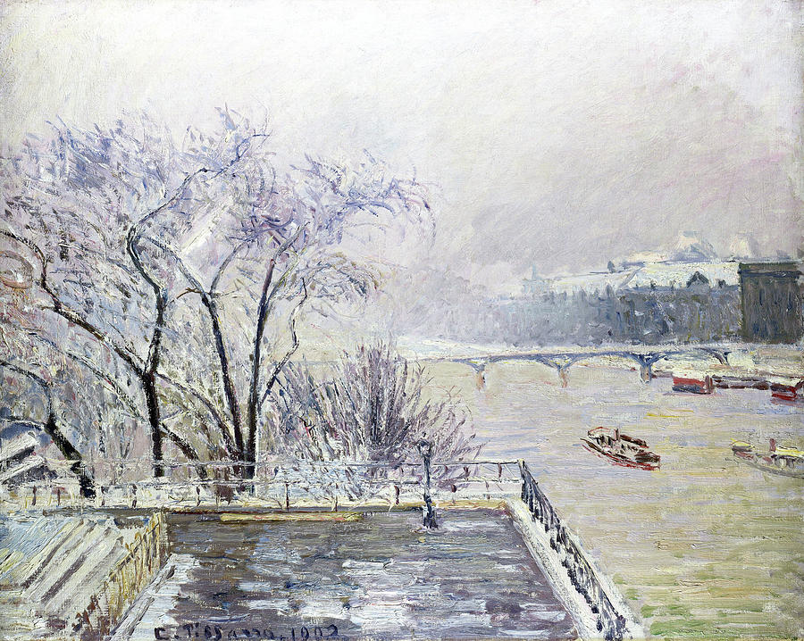 Camille Pissarro Painting - The Louvre Under Snow - Digital Remastered Edition by Camille Pissarro