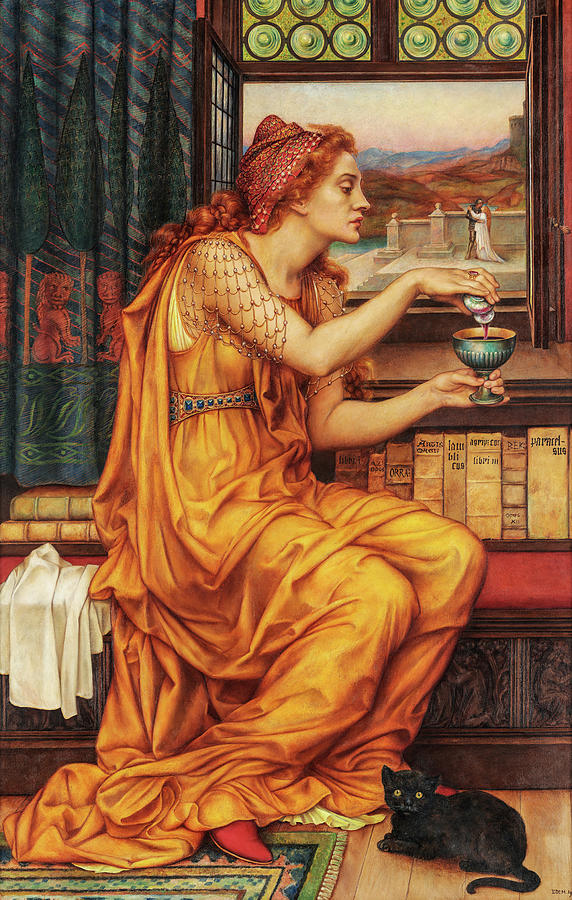 Evelyn De Morgan Painting - The Love Potion, 1903 by Evelyn De Morgan