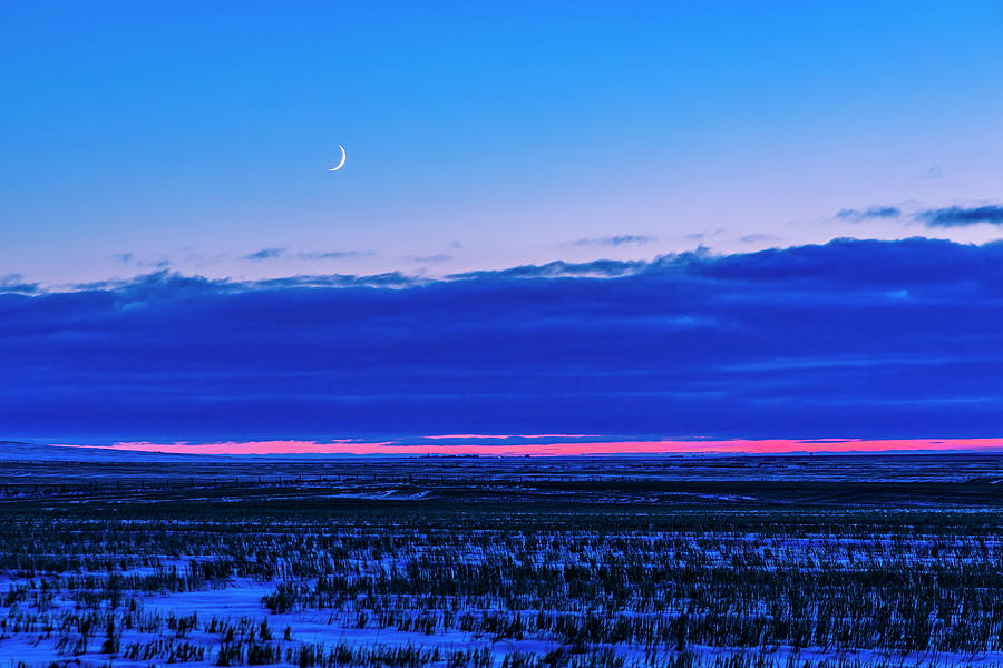 The Low Waxing Crescent Moon by Alan Dyer