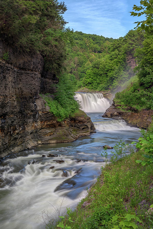The Lower Falls of Letchworth State Park by Kristen Wilkinson