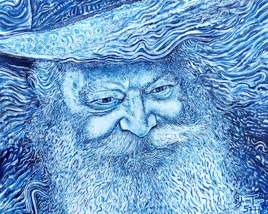 The Lubavitcher Rebbe Blue by Yom Tov Blumenthal