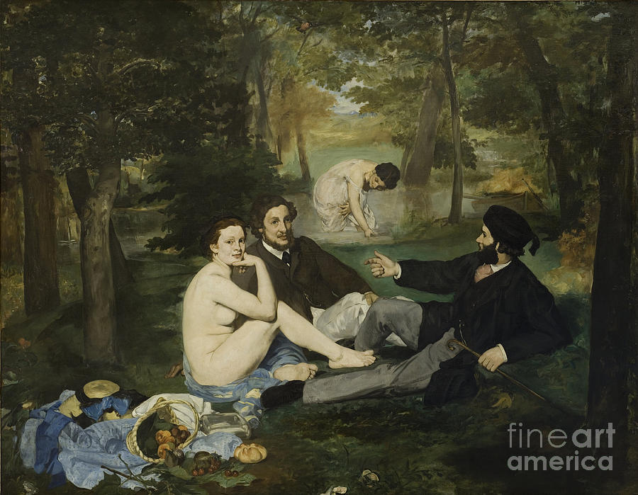 The Luncheon On The Grass, 1863. Artist Drawing by Heritage Images