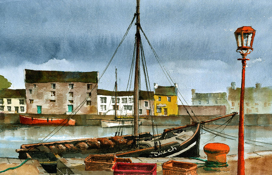 The MacDuach at rest in Kinvara by Val Byrne