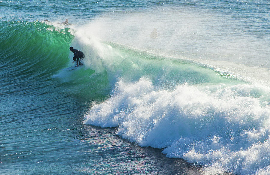 the magical huge waves in the bay of santa barbara make this a s by Kim Vermaat