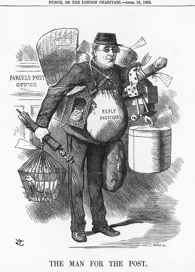 The Man For The Post, 1882. Artist Drawing by Print Collector