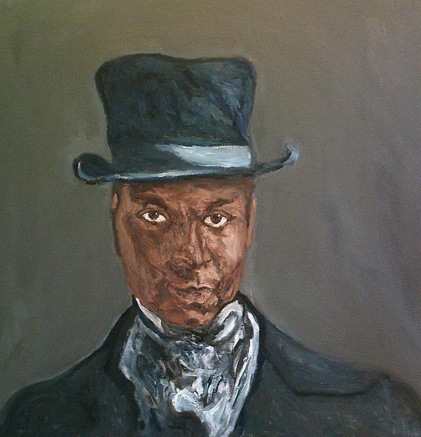The Man In The Blue Velvet Hat by Peter Gartner