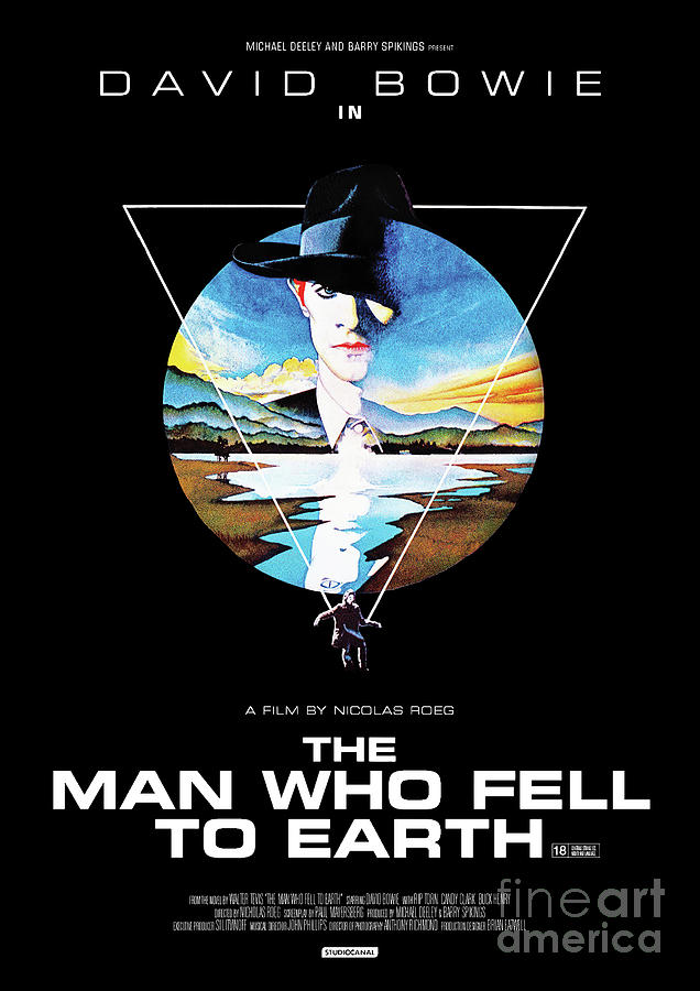 David Bowie Mixed Media - The Man Who Fell To Earth 1976 by Kultur Arts Studios