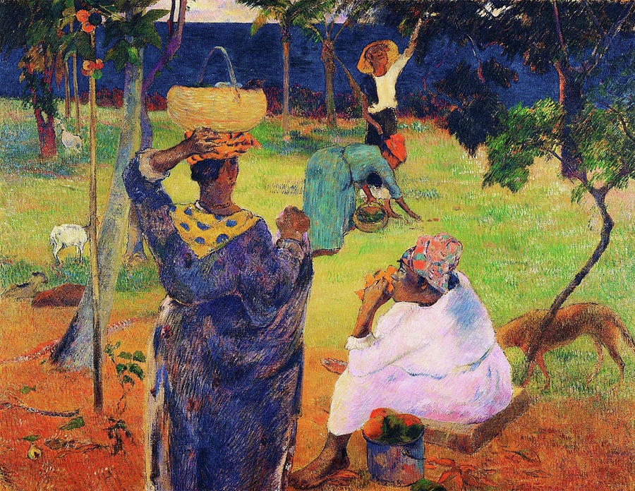 Martinique Painting - The Mango Trees, Martinique - Digital Remastered Edition by Paul Gauguin