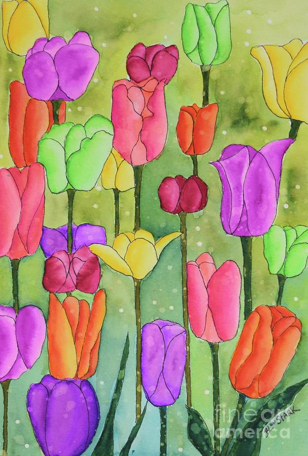 The Many Colors Of Tulips by Barrie Stark