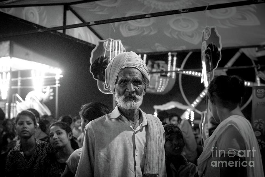 Indian Ethnicity Photograph - The Many Shades Of Delhi - Turbaned Man by Neha Gupta