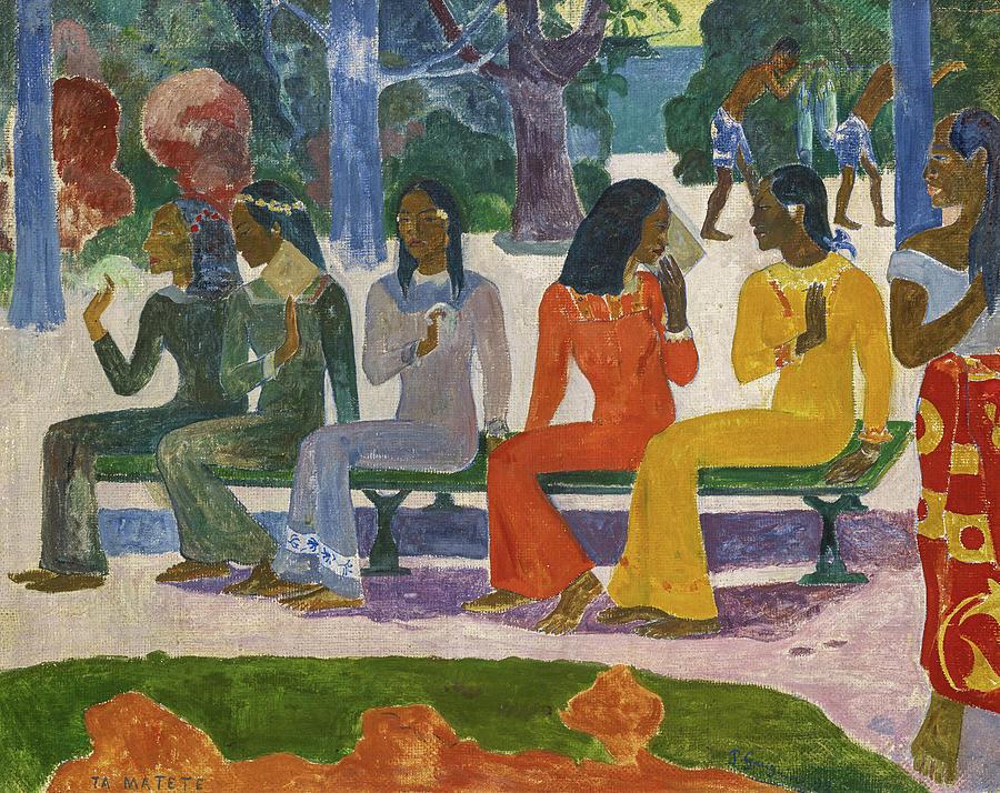 Paul Gauguin Painting - The Market, 1892 by Paul Gauguin