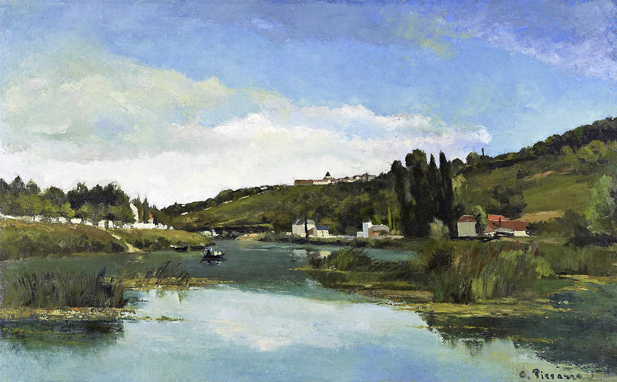 Camille Pissarro Painting - The Marne At Chennevieres - Digital Remastered Edition by Camille Pissarro