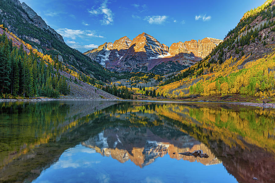 The Maroon Bells in Autumn by Tim Stanley