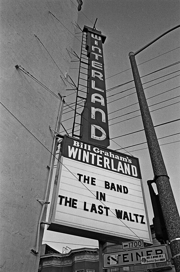 The Marquee For The Last Waltz Photograph by Michael Ochs Archives