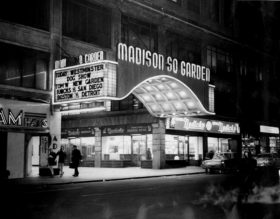 The Marquee Of The Old Madison Square Photograph by New York Daily News Archive