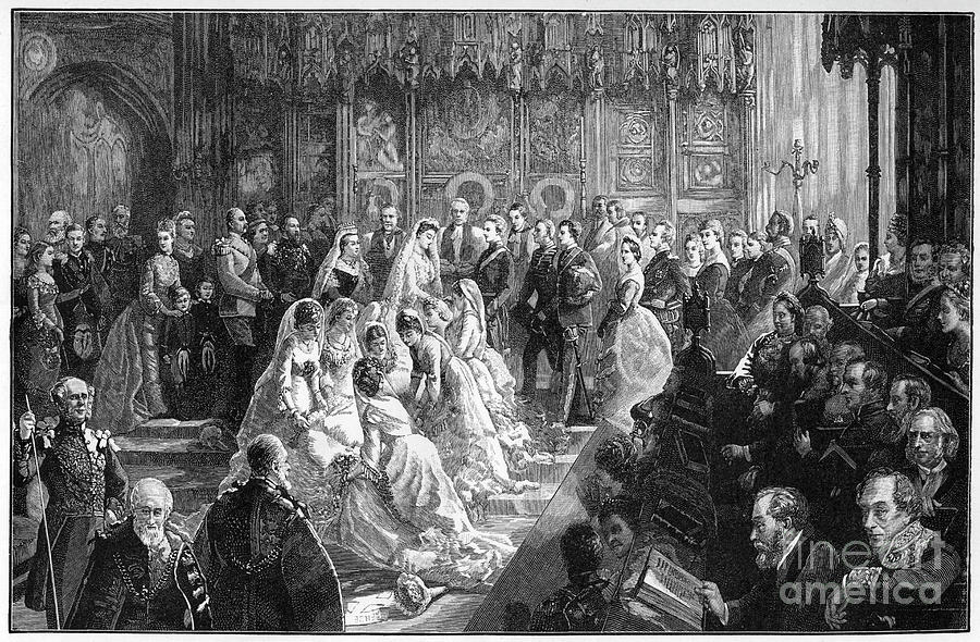 The Marriage Of Princess Louise, 21 Drawing by Print Collector