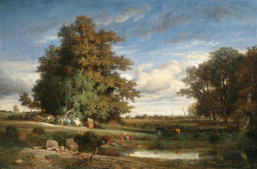 French Painters Painting - The Marsh by Constant Troyon