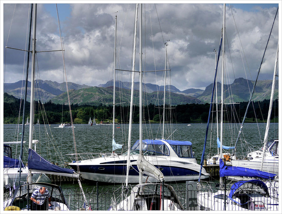 The Masts Of Lake Windermere by Lance Sheridan-Peel