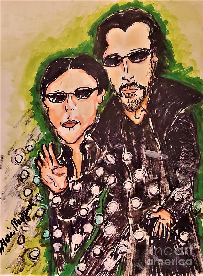 The Matrix Neo And Trinity Mixed Media