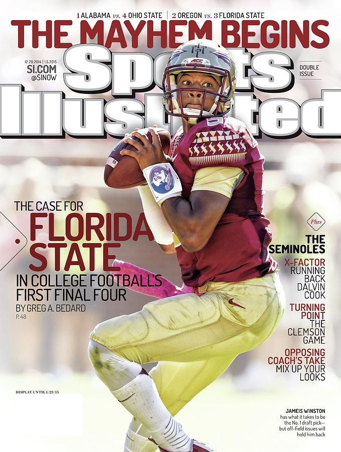 The Mayhem Begins The Case For Florida State In College Sports Illustrated Cover Photograph by Sports Illustrated
