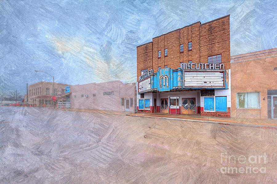 Hdr Digital Art - The Mccutchen Theatre  by Larry Braun