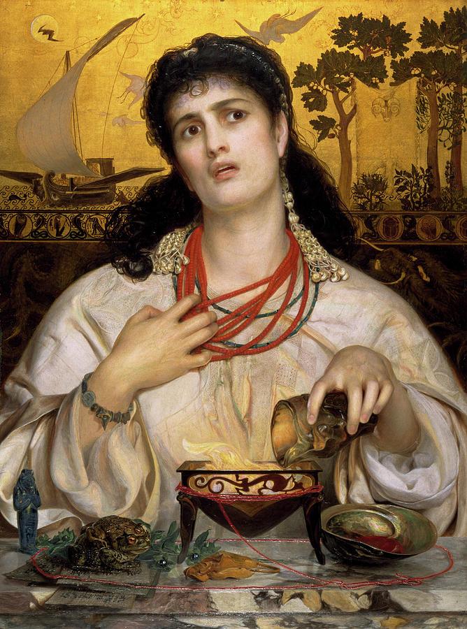 Medea Painting - The Medea by Frederick Sandys