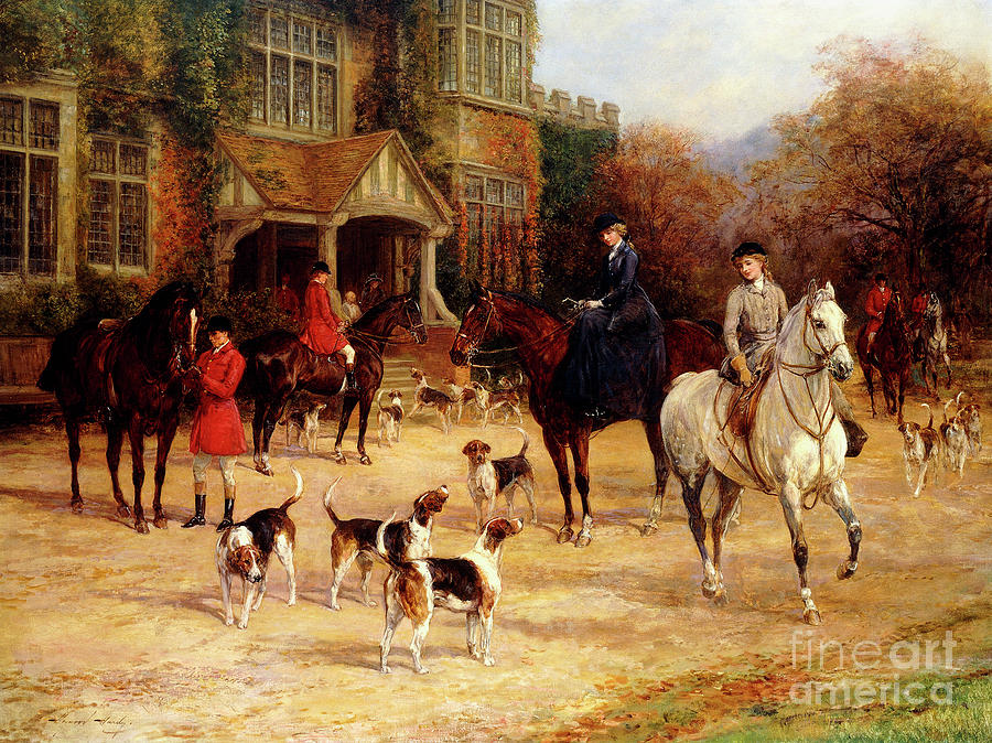 Residence Painting - The Meet By Heywood Hardy by Heywood Hardy