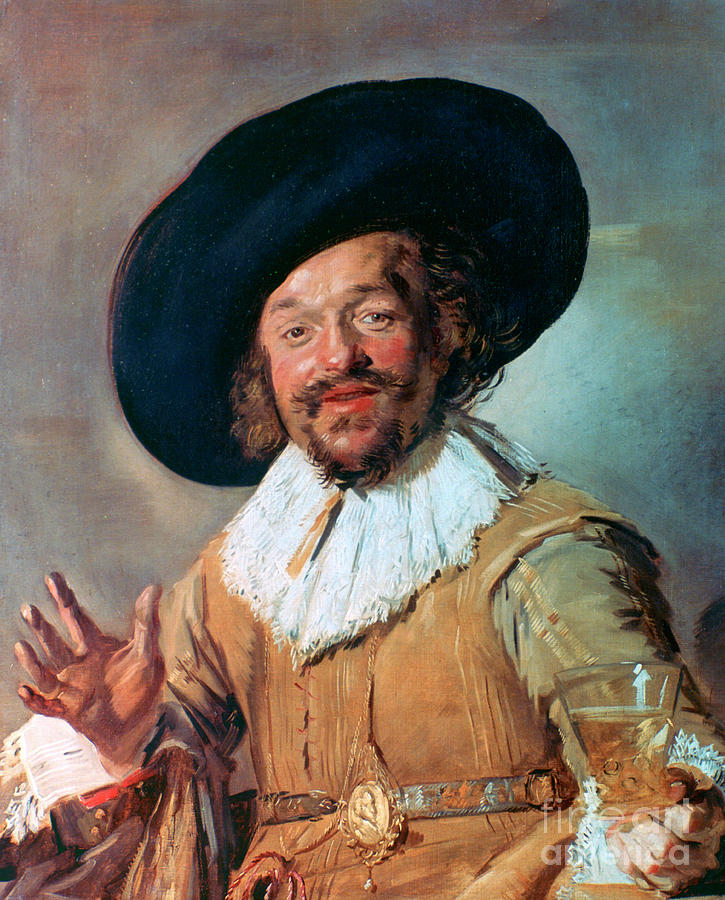 The Merry Drinker, 1628-1630. Artist Drawing by Print Collector