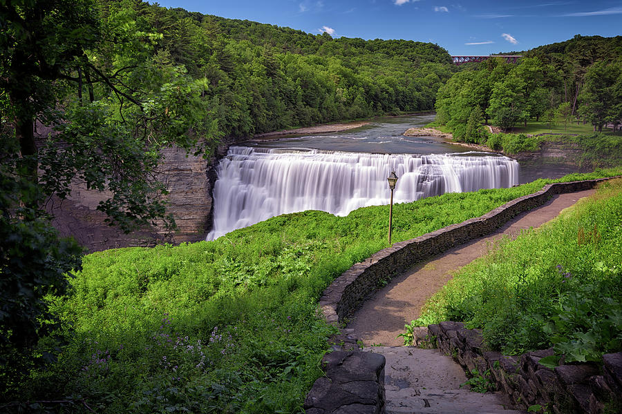 Fine Photograph - The Middle Falls Of Letchworth State Park by Rick Berk