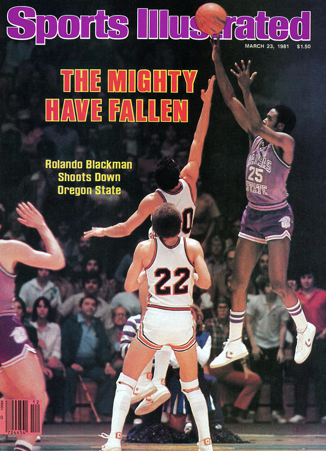 The Mighty Have Fallen Rolando Blackman Shoots Down Oregon Sports Illustrated Cover Photograph by Sports Illustrated