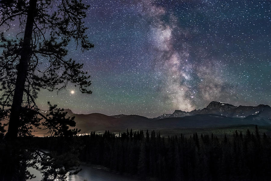 The Milky Way And Mars Over Storm by Alan Dyer