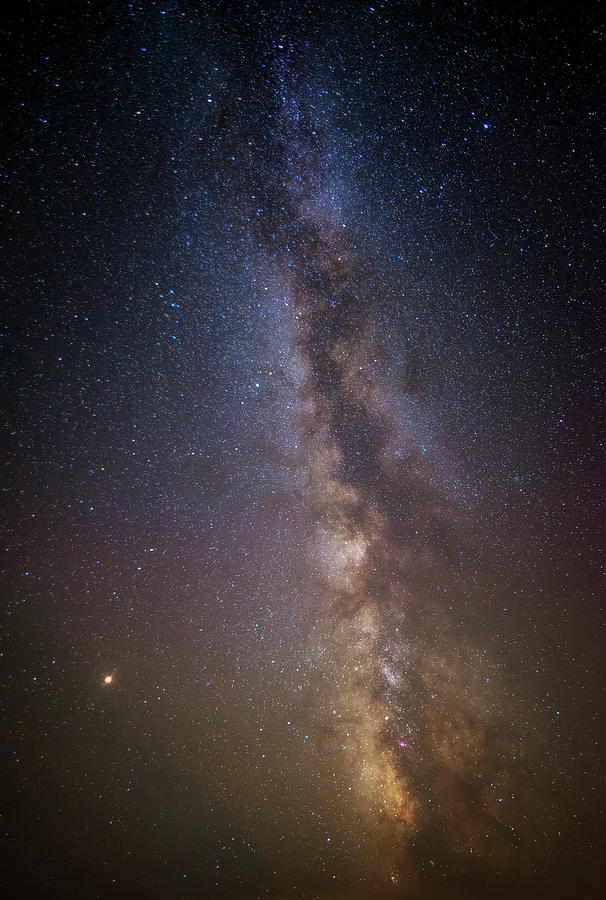 The Milky Way and Mars by Ryan Wyckoff