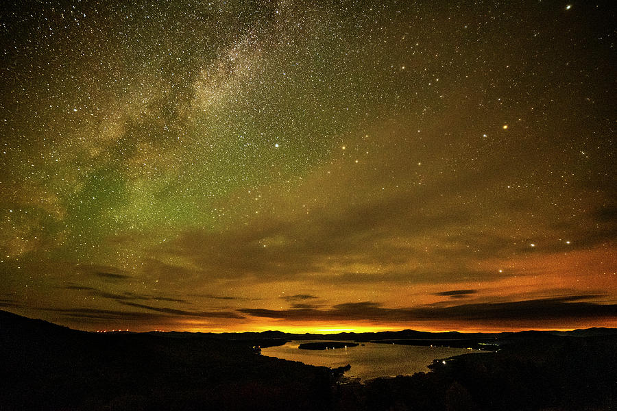 The Milky Way over Rangeley Lake Rangeley Maine by Toby McGuire