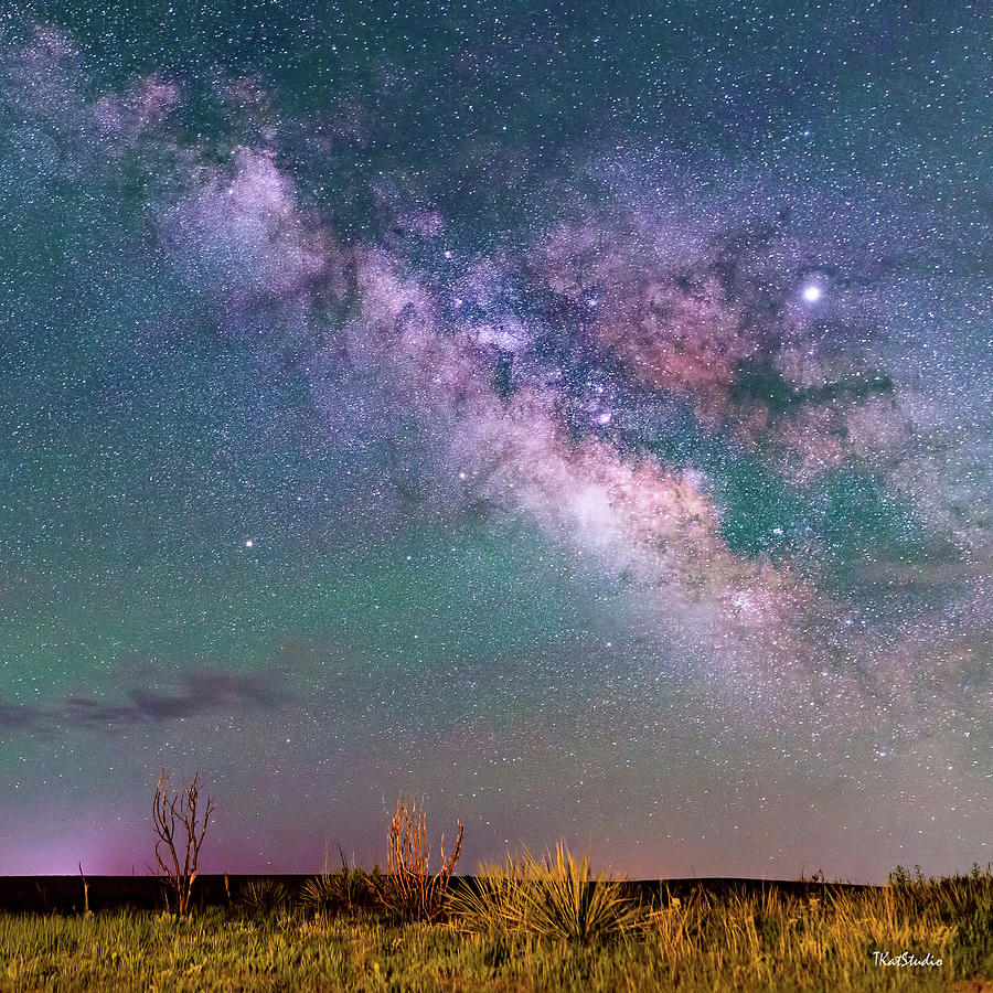 The Milky Way over the Colorado Plains by Tim Kathka